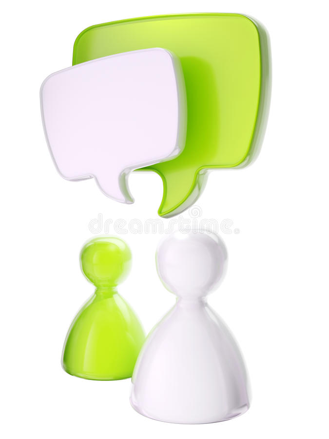 Download Human Symbolic Figures With Text Bubbles Stock Photo - Image: 25538390