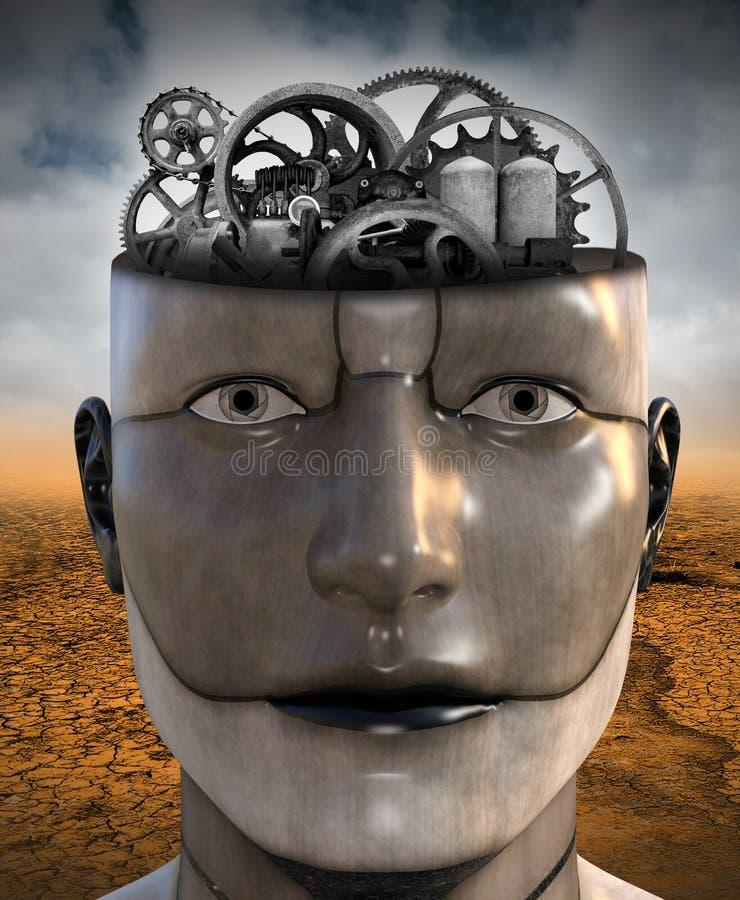 Human, Technology, Education, Learning, Brain Power stock illustration