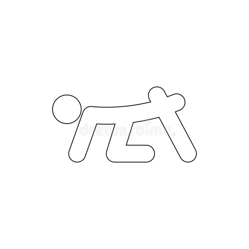 Human therapy  outline icon. Signs and symbols can be used for web, logo, mobile app, UI, UX vector illustration