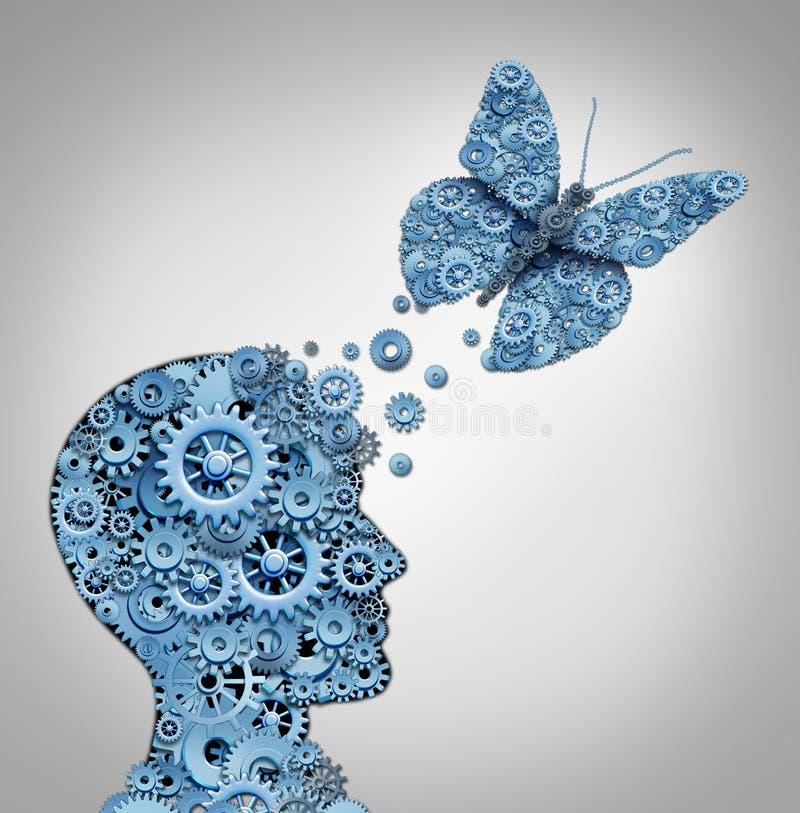 Human Thinking royalty free illustration