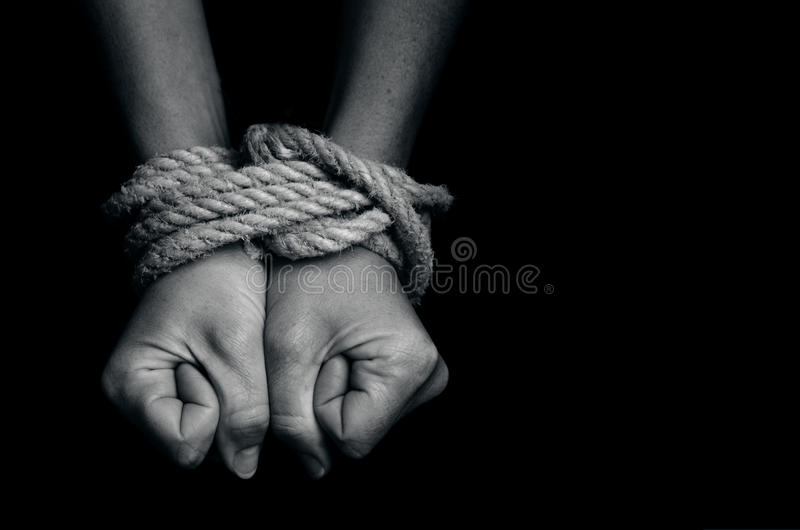 Human trafficking - Concept Photo royalty free stock image