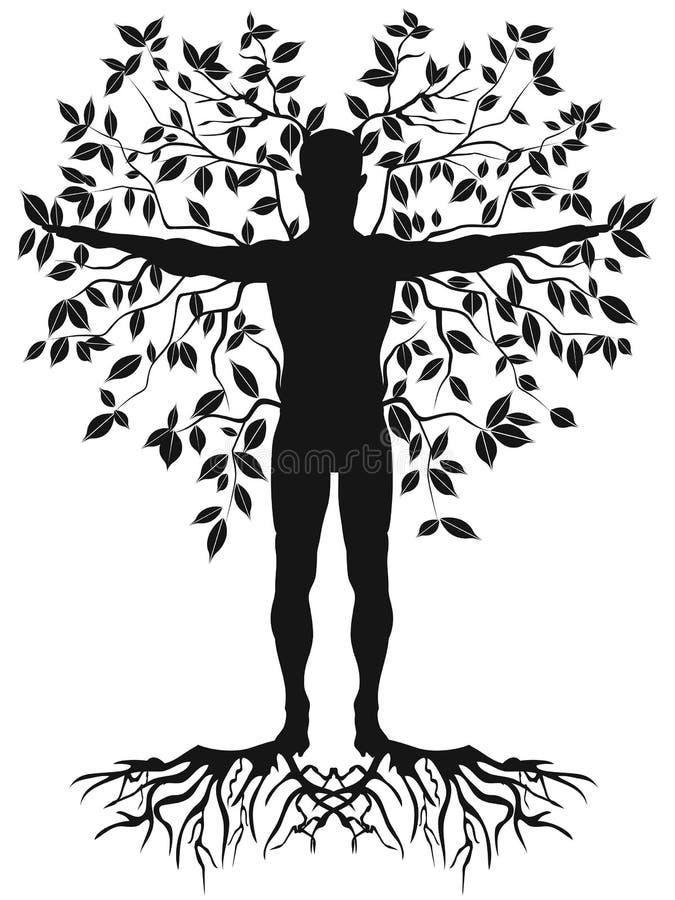 Human tree royalty free illustration