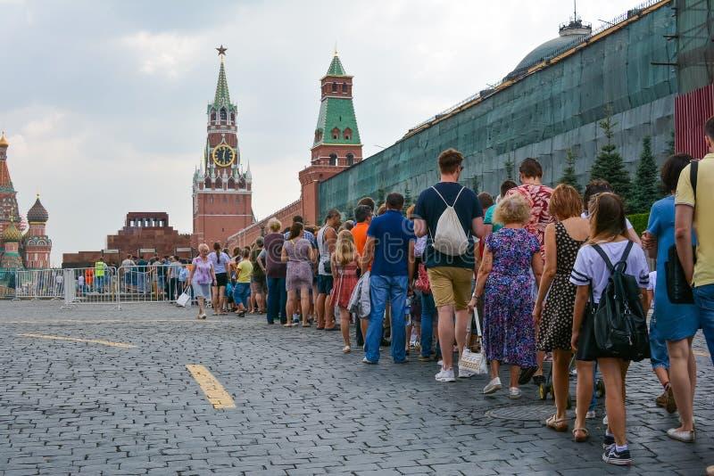 Human turn to Lenin royalty free stock photography