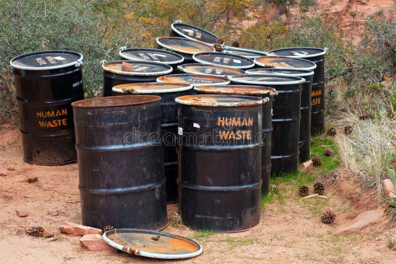 Human Waste Barrels Royalty Free Stock Photography
