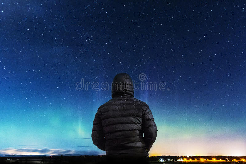 Human Wearing A Black Leather Hoodie Jacket Infront Of Blue Sky Free Public Domain Cc0 Image