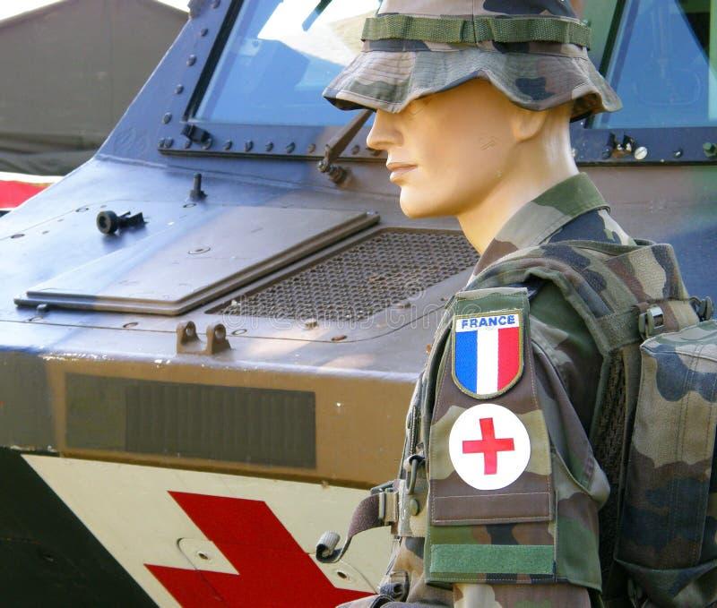 Humanitarian. Army of france nurse stock photos