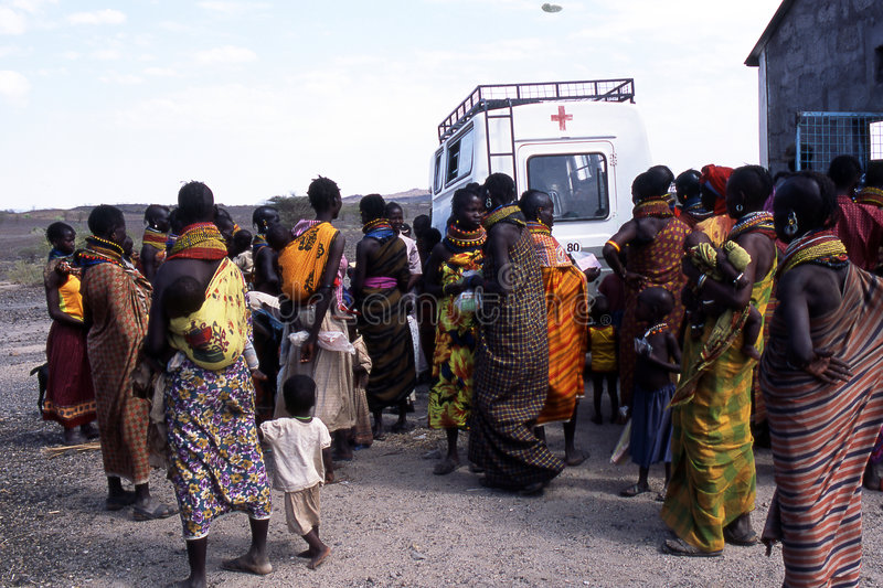 Humanitarian aids. The women and children of the Turkana tribe Kenya and humanitarian aid. The Turkana are a Nilotic people of Kenya, numbering about 340,000