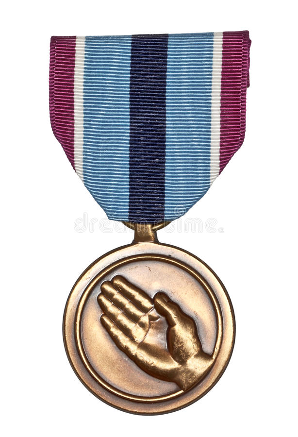 Humanitarian Service Medal. Of armed forces of USA royalty free stock image