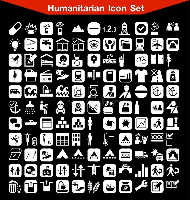 Humanitarny ikona set ilustracji