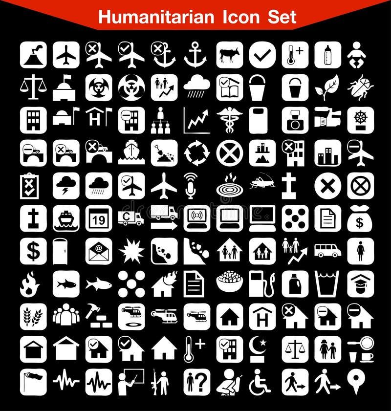 Humanitarny ikona set royalty ilustracja