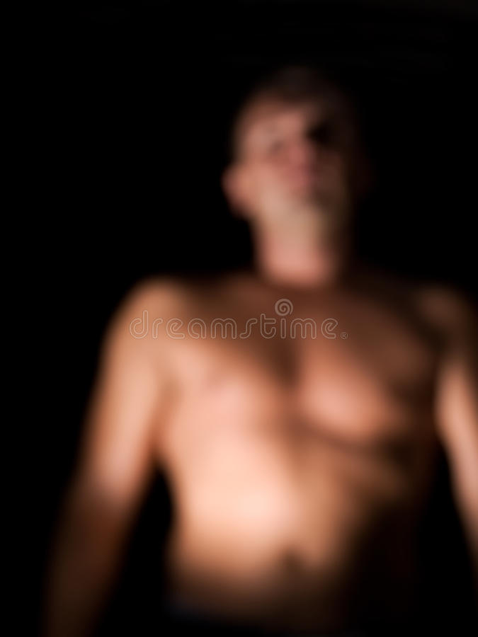 Humanoid. Defocused silhouette of a human or even any humanoid creature royalty free stock images