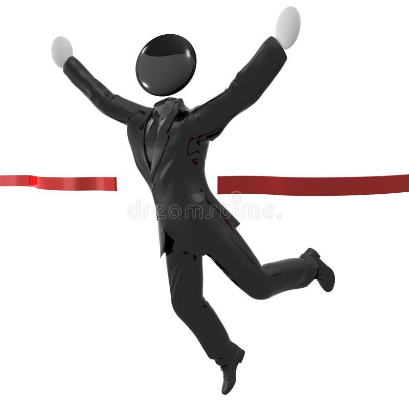 Download Humanoid Icon In Tuxedo Reaching Finish Line Stock Illustration - Image: 10718798