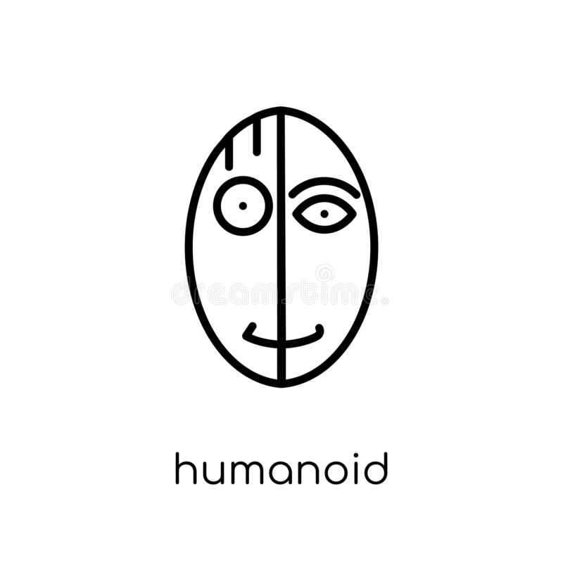 humanoid ikona  royalty ilustracja