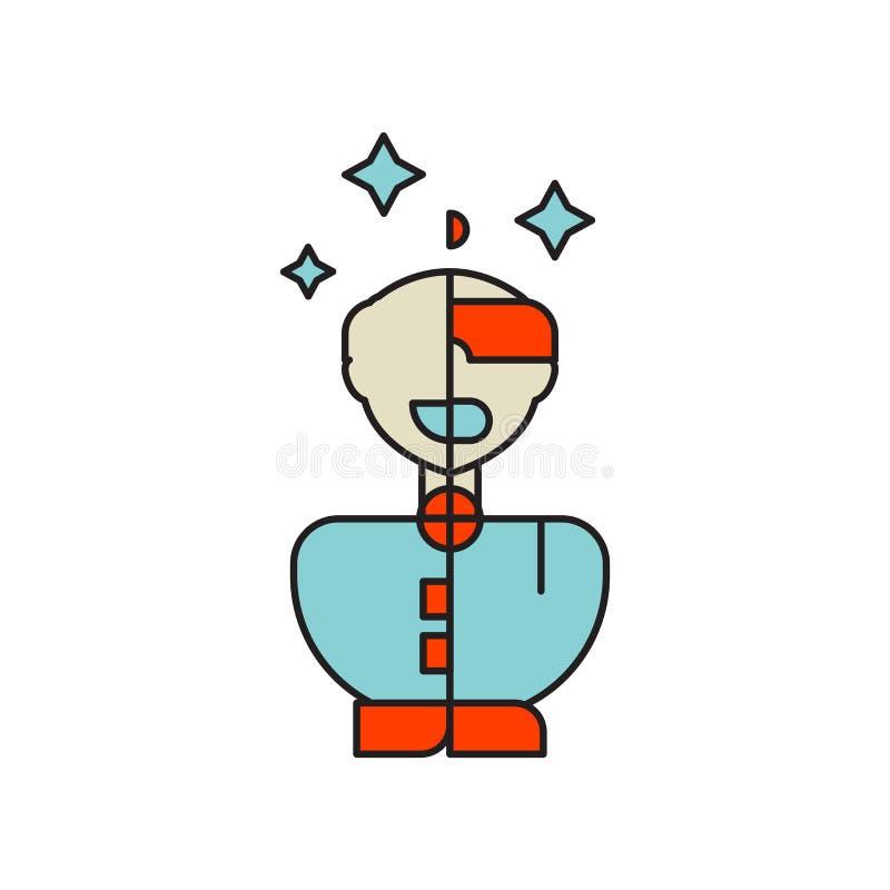 Humanoid Ikonenvektor lokalisiert auf weißem Hintergrund, Humanoid Zeichen, Technologiesymbole vektor abbildung