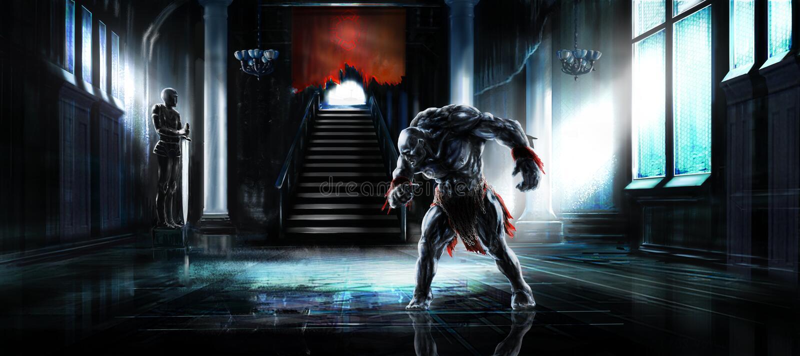 Humanoid potwór royalty ilustracja