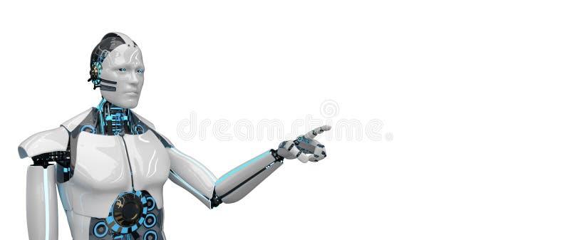 Humanoid robotów stuknięcia ilustracja wektor