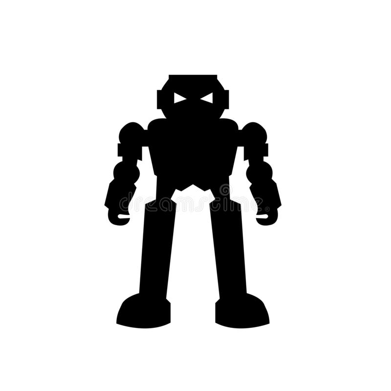 humanoid robot icon vector sign and symbol isolated on white background, humanoid robot logo concept royalty free illustration