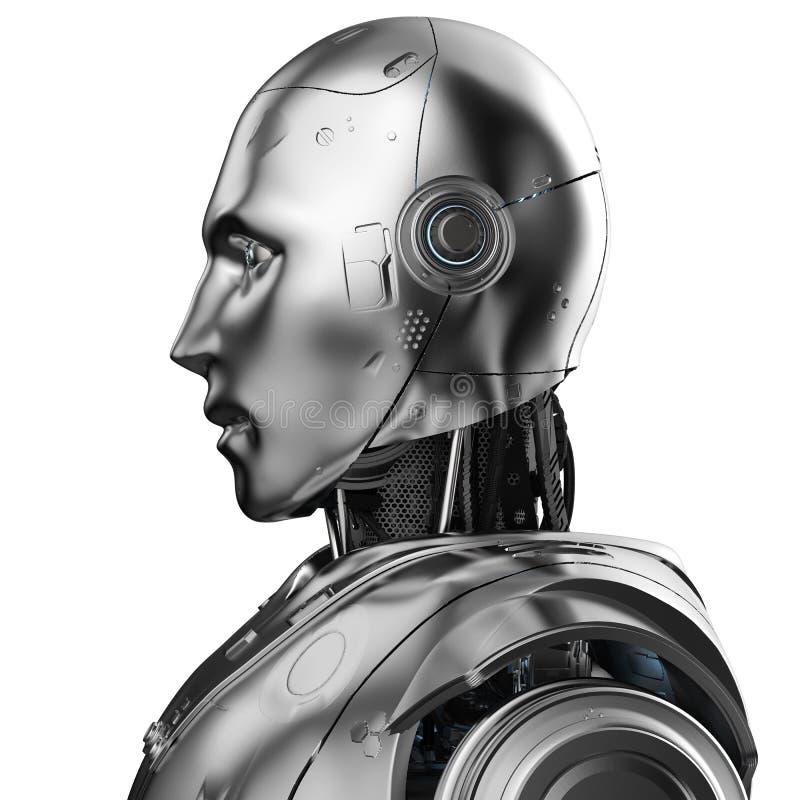 Humanoid robot portrait royalty free illustration