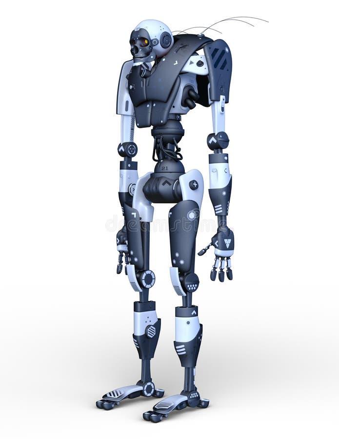 3D CG rendering of Humanoid robot royalty free illustration
