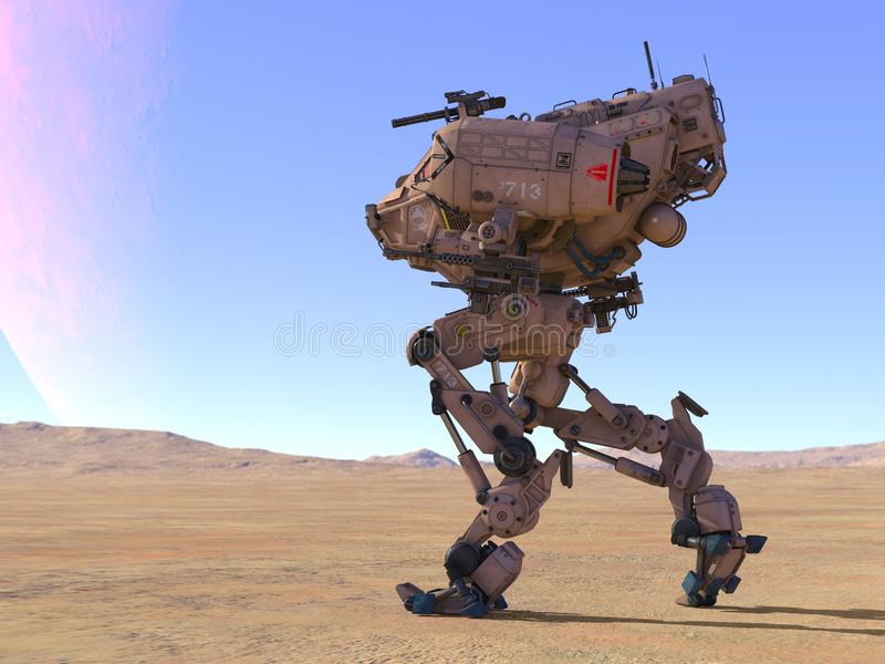 3D CG rendering of Humanoid. Humanoid robot that was made full use of technology royalty free illustration