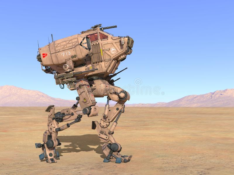 3D CG rendering of Humanoid. Humanoid robot that was made full use of technology stock illustration