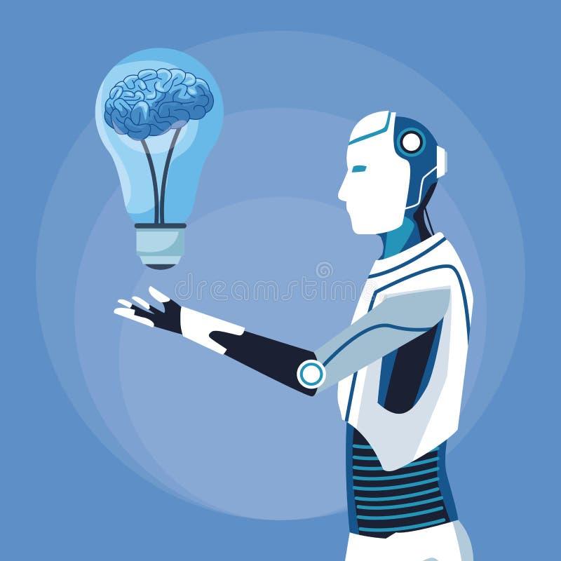 Humanoid robota avatar ilustracji