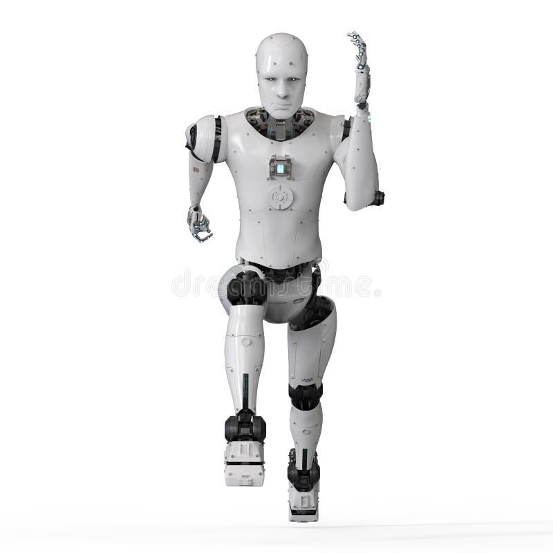 Humanoid robota bieg ilustracji