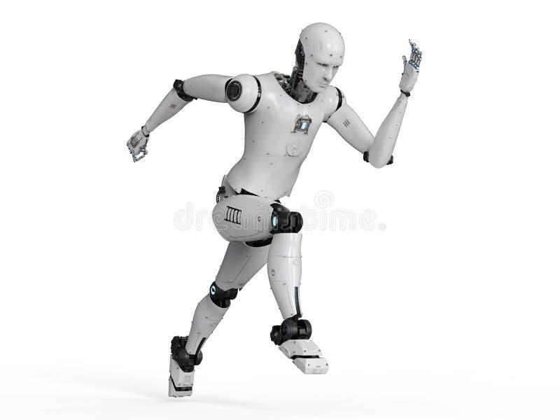 Humanoid robota bieg ilustracja wektor