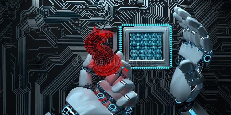 Humanoid robota narzędzia ilustracja wektor