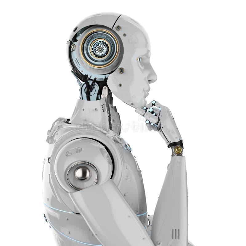 Humanoidrobot het denken vector illustratie