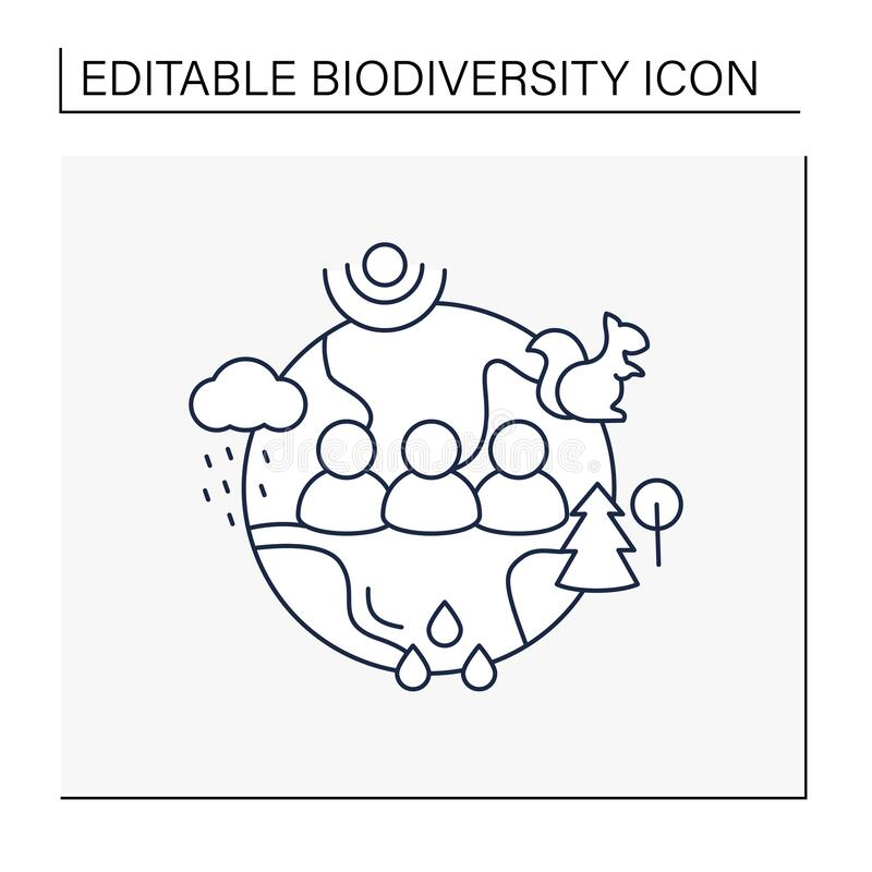Free Humans And Ecosystem Line Icon Royalty Free Stock Photos - 215168288