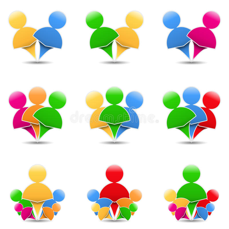 Download Humans Icons stock vector. Illustration of people, family - 26522596