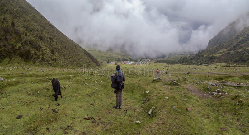 Humantay jezioro na Salkantay wędrówce, Peru, lokalizować w Cordillera Vilcabamba, Cusco obrazy royalty free