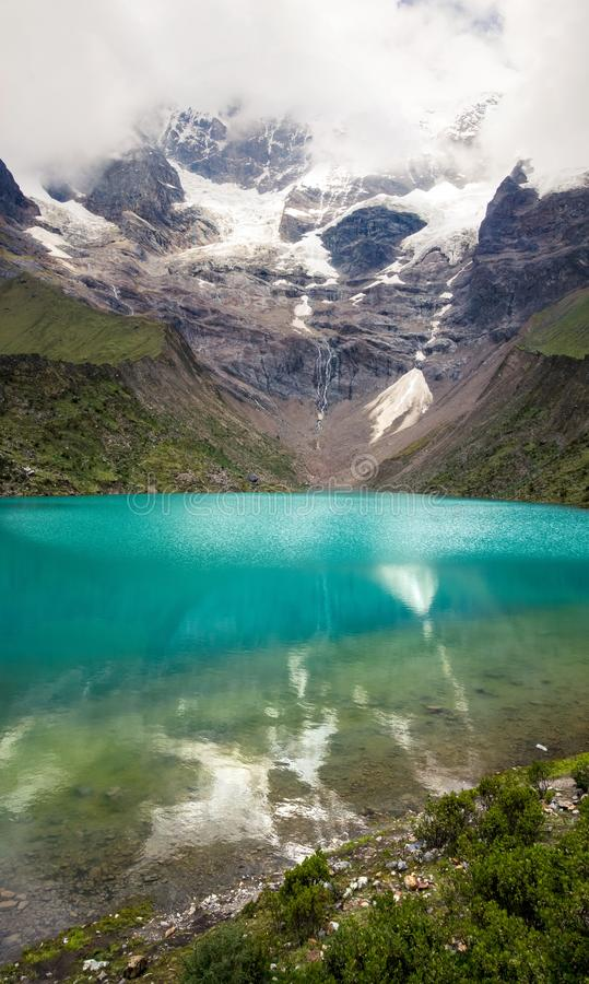 Humantay jezioro w Peru na Salcantay górze w Andes fotografia royalty free
