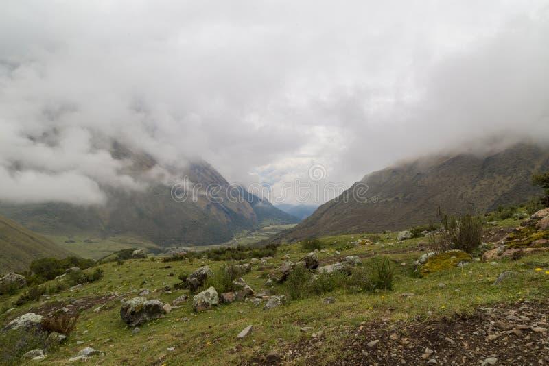 Humantaymeer bij Salkantay-trek, Peru, in de Cordillera Vilcabamba, Cusco wordt gevestigd die royalty-vrije stock afbeeldingen