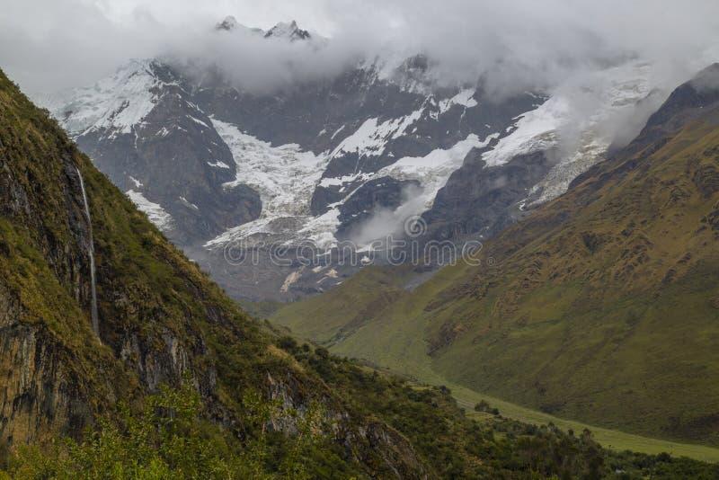 Humantaymeer in Peru op Salcantay-berg in de Andes royalty-vrije stock afbeeldingen