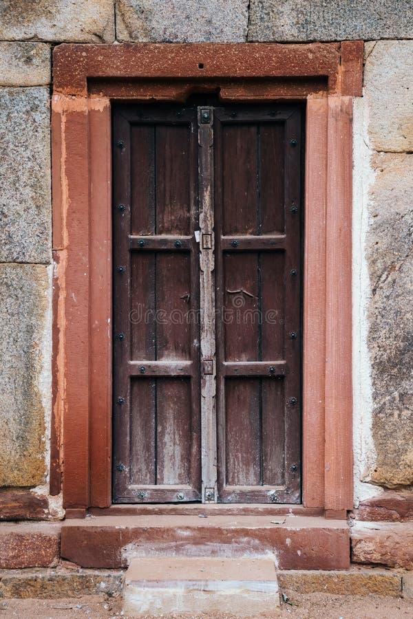 Door at Humayun's Tomb in Delhi, India royalty free stock photo