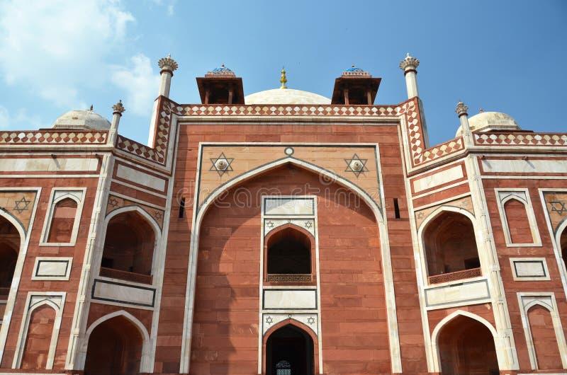 Humayun坟茔 德里新的印度 免版税库存照片