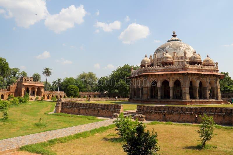 Humayun陵墓在德里 免版税库存照片