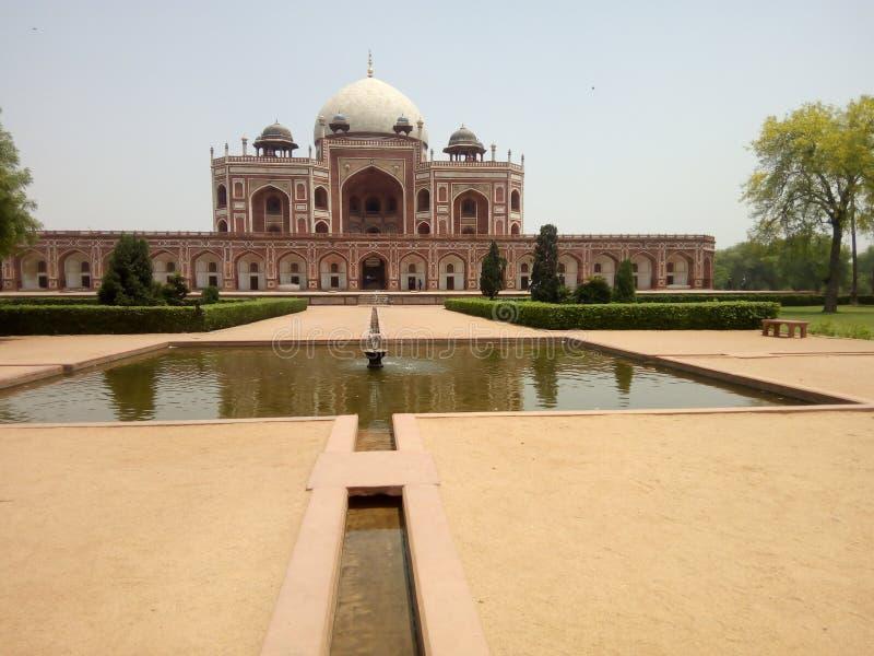 Humayun gravvalv New Delhi royaltyfria bilder