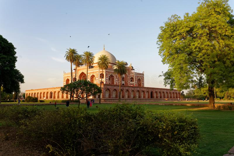 Humayun ` s坟茔德里印度 库存照片