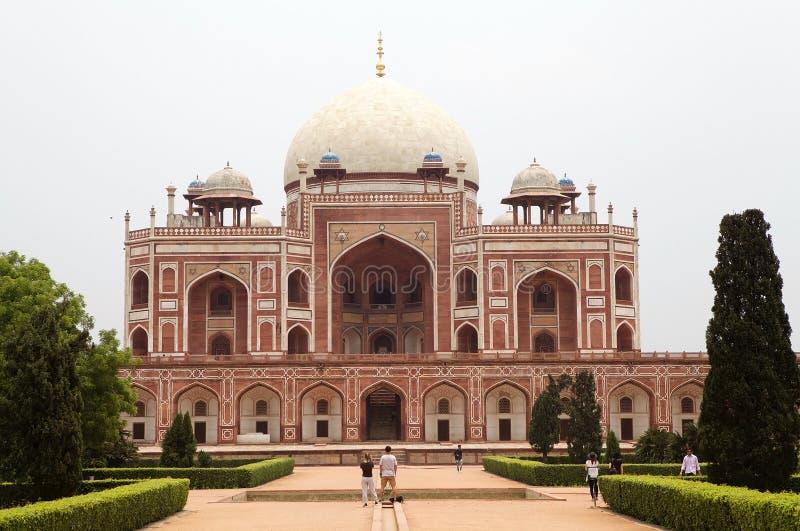 Humayun ` s坟茔,德里,印度 库存照片