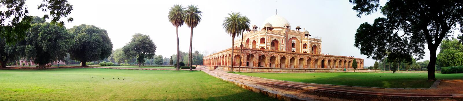 Humayun's Tomb. The tomb of Emperor Humayun in New Delhi. Restored by the Aga Khan Foundation and the ASI it is once again a popular sightseeing stop. The tomb stock photos