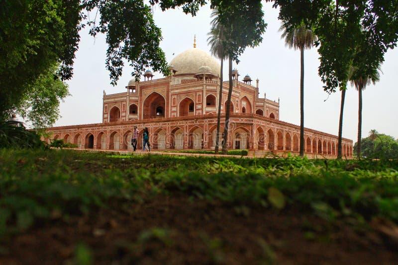 Humayun's Tomb, Delhi, Indien arkivbilder