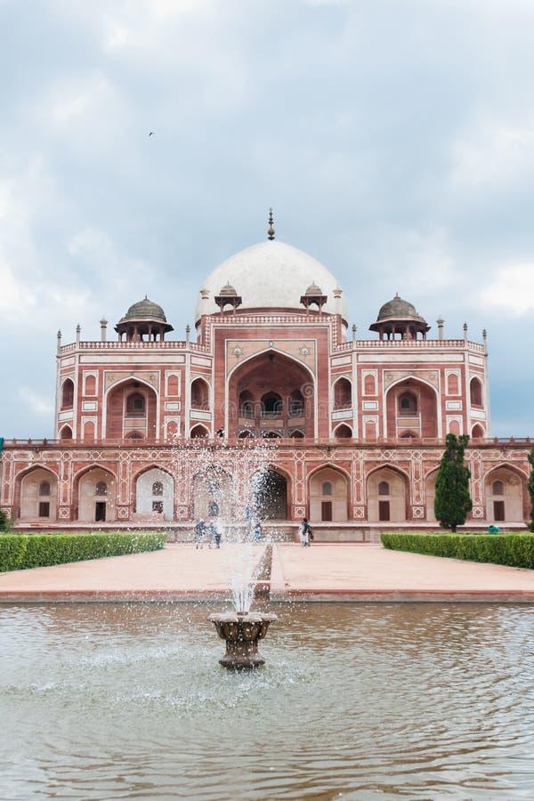 Humayun's tomb fountain, Delhi, India royalty free stock photos