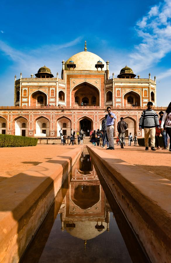 Humayun& x27;s tomb is the tomb of the Mughal Emperor Humayun in Delhi, India. Humayuns, historical royalty free stock photography