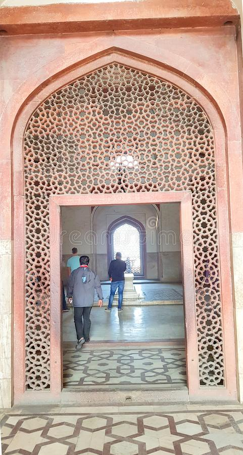 One of the entrance of Humayun`s tomb is the tomb of the Mughal Emperor Humayun in Delhi, India. Humayun`s tomb is the tomb of the Mughal Emperor Humayun. The stock photo