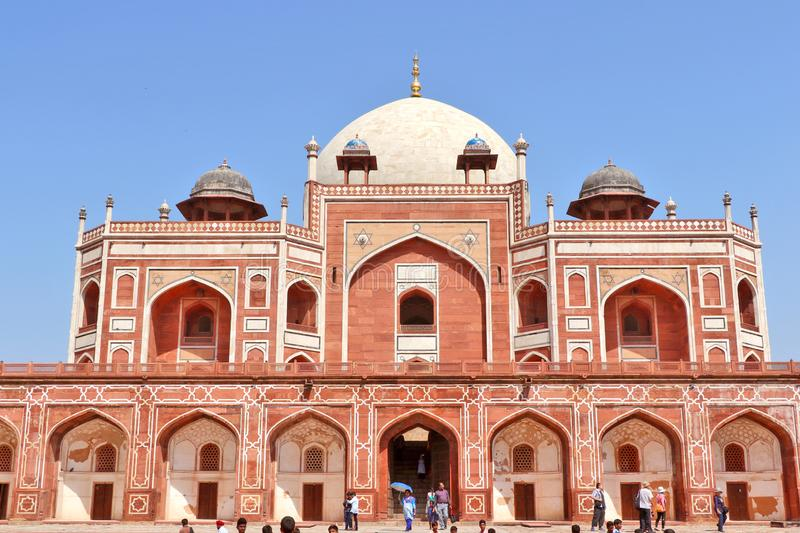 Humayun`s tomb is the tomb of the Mughal Emperor Humayun in Delhi, India. Mughal Emperor Humayun tomb was commissioned by his wife Bega Begum in 1569-70 royalty free stock images