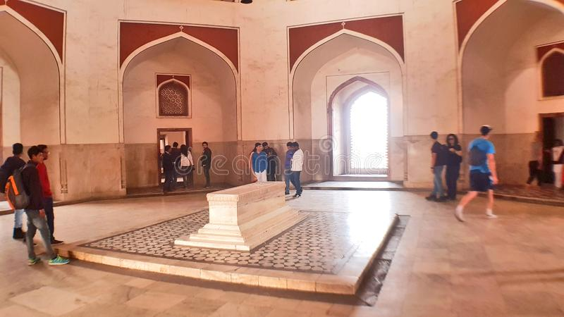 Humayun`s tomb is the tomb of the Mughal Emperor Humayun. The tomb was commissioned by Humayun`s wife Bega Begum in 1569-70. Many Mughal rulers lie buried here royalty free stock photography