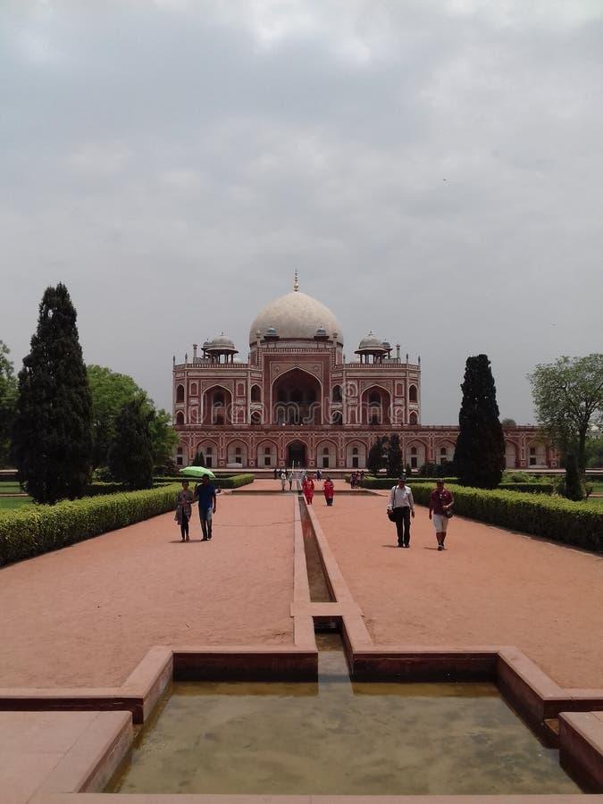 Humayun Tomb i New Delhi royaltyfria foton